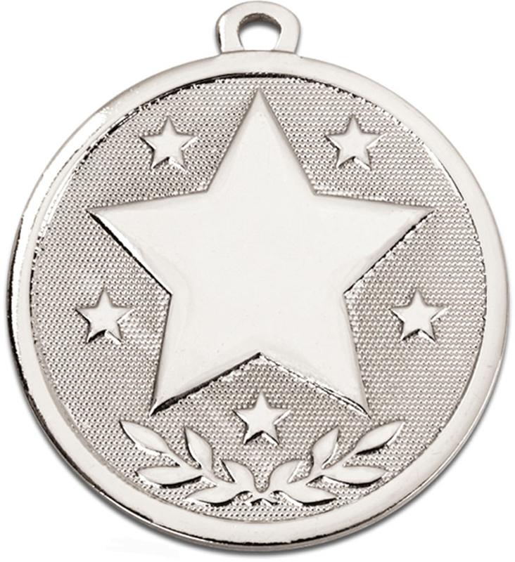 "Silver Galaxy Stars Medal 45mm (1.75"")"