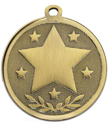 "Bronze Galaxy Stars Medal 45mm (1.75"")"