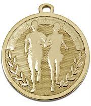 """Gold Galaxy Running Medal 45mm (1.75"""")"""