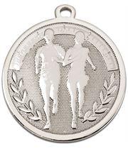 """Silver Galaxy Running Medal 45mm (1.75"""")"""