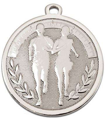 "Silver Galaxy Running Medal 45mm (1.75"")"