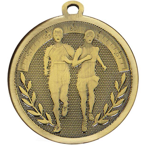 "Bronze Galaxy Running Medal 45mm (1.75"")"