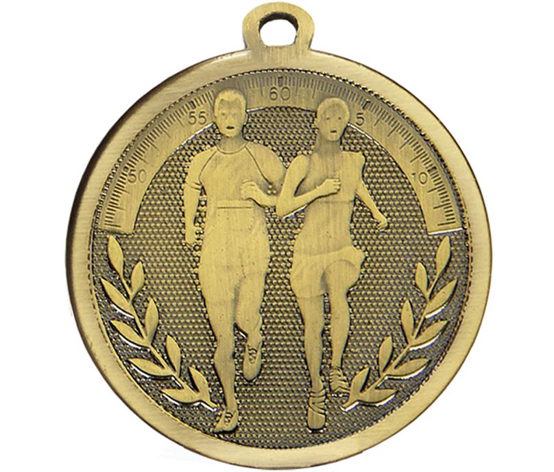 "Bronze Galaxy Running Medal 45mm (1.75"")"