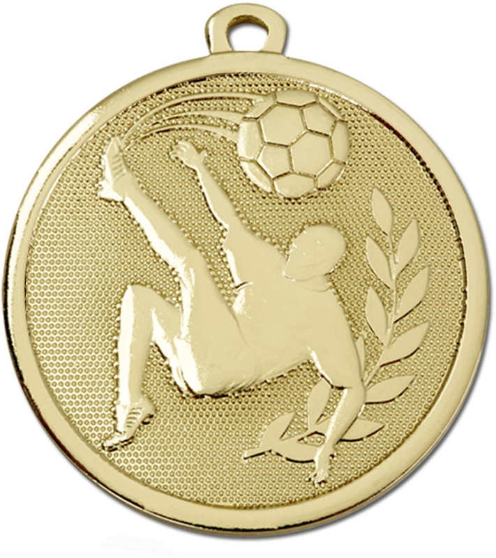 "Gold Galaxy Football Kick Medal 45mm (1.75"")"