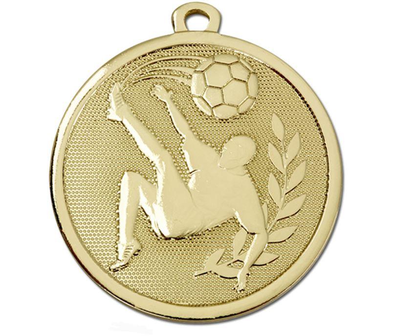 "Gold Galaxy Football Kick Medal 45mm (1.75"")"