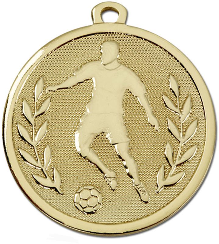 """Gold Galaxy Footballer Medal 45mm (1.75"""")"""