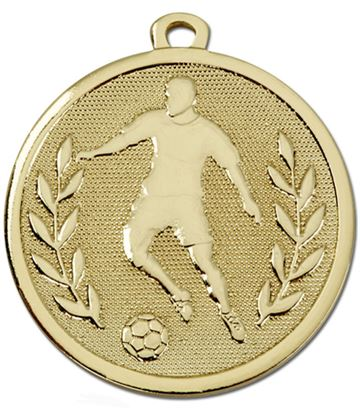 "Gold Galaxy Footballer Medal 45mm (1.75"")"