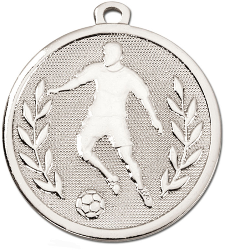 "Silver Galaxy Footballer Medal 45mm (1.75"")"