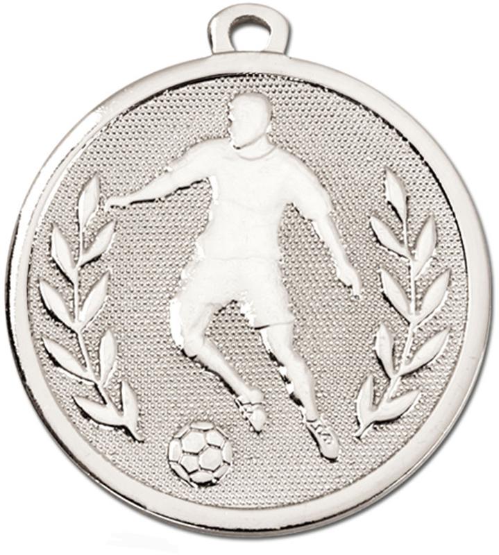 """Silver Galaxy Footballer Medal 45mm (1.75"""")"""