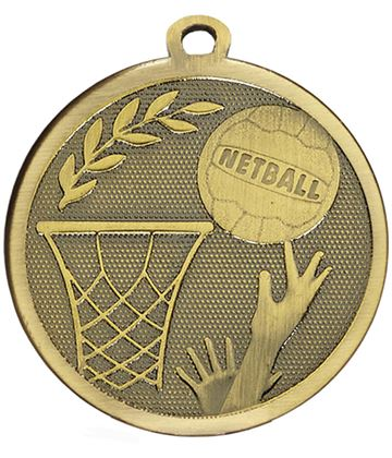 "Bronze Galaxy Netball Medal 45mm (1.75"")"