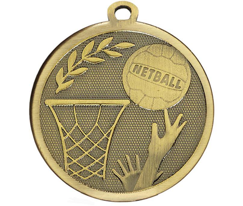 """Bronze Galaxy Netball Medal 45mm (1.75"""")"""