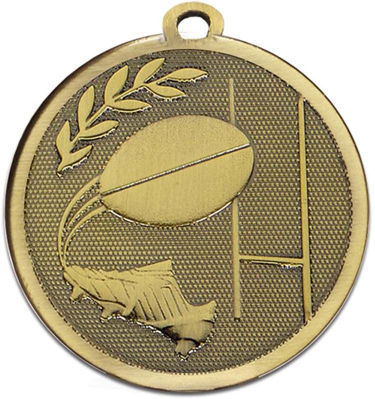 "Bronze Galaxy Rugby Medal 45mm (1.75"")"