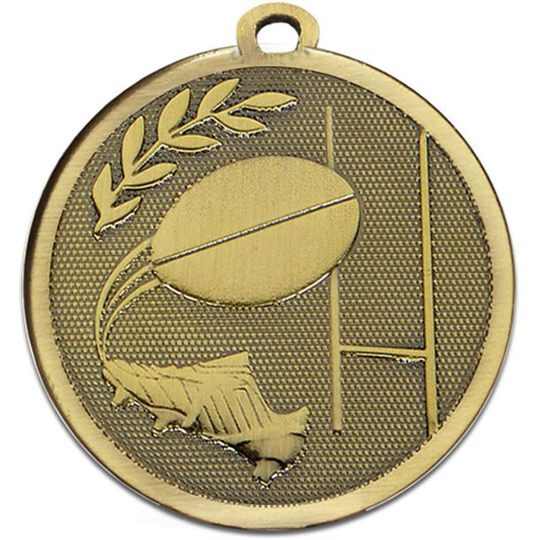 """Bronze Galaxy Rugby Medal 45mm (1.75"""")"""
