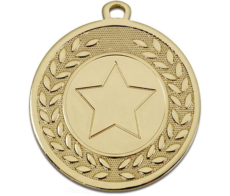 "Gold Galaxy Star Centre Medal 45mm (1.75"")"
