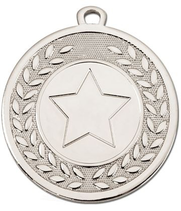 "Silver Galaxy Star Centre Medal 45mm (1.75"")"