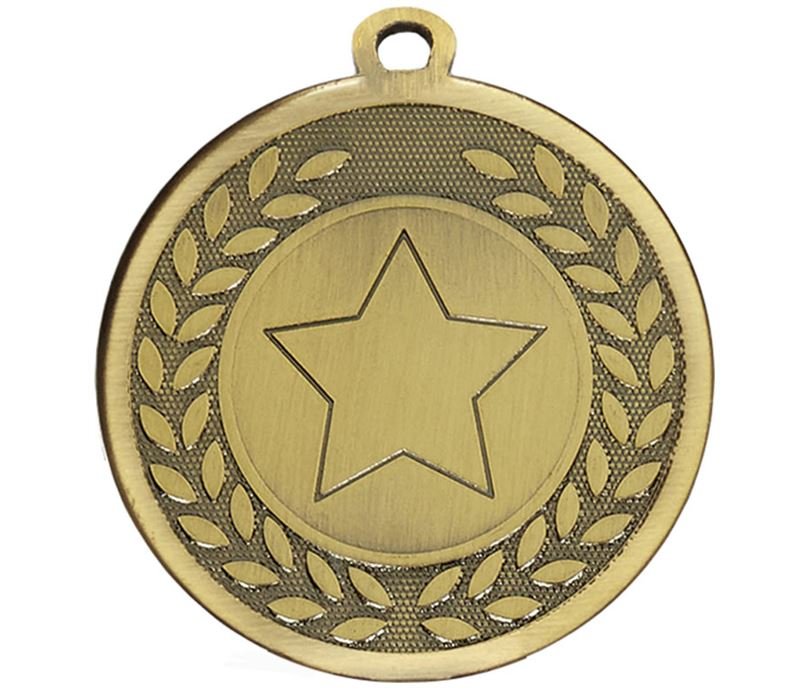 "Bronze Galaxy Star Centre Medal 45mm (1.75"")"