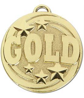 """Gold Target Medal 50mm (2"""")"""