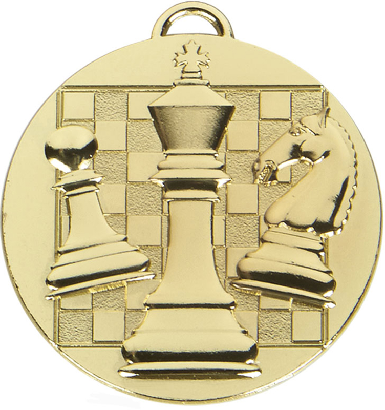 "Gold Target Chess Medal 50mm (2"")"
