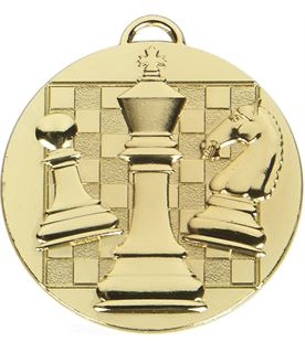 """Gold Target Chess Medal 50mm (2"""")"""
