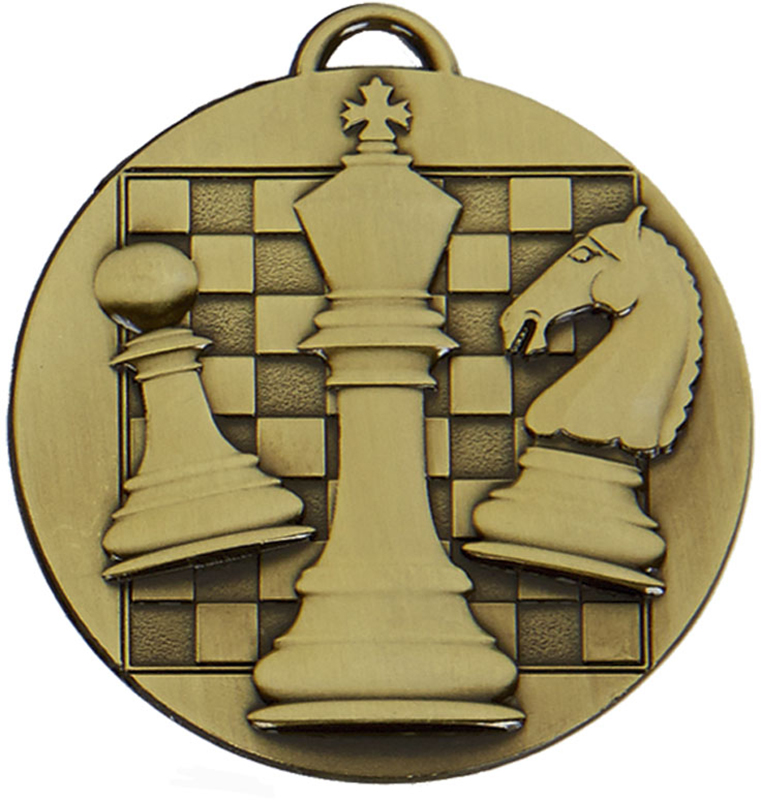 "Bronze Target Chess Medal 50mm (2"")"