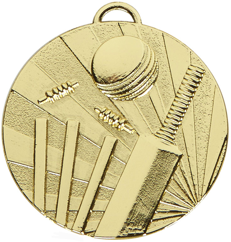 "Gold Target Cricket Medal 50mm (2"")"