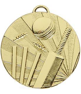 """Gold Target Cricket Medal 50mm (2"""")"""