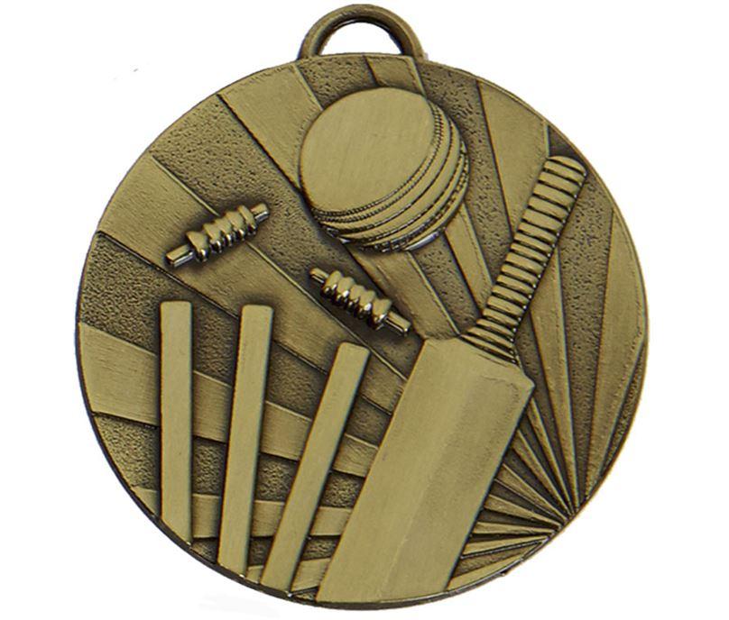 """Bronze Target Cricket Medal 50mm (2"""")"""