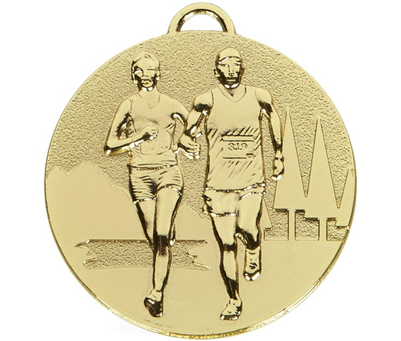 "Gold Target Cross Country Medal 50mm (2"")"