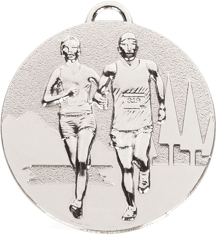 "Silver Target Cross Country Medal 50mm (2"")"