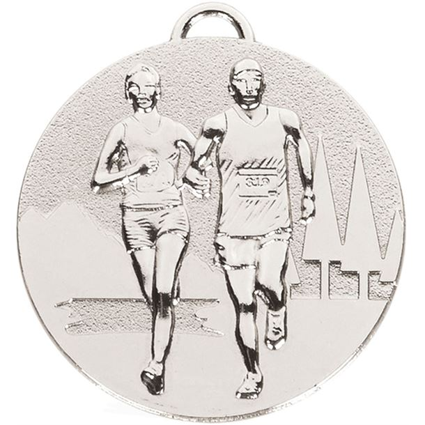 """Silver Target Cross Country Medal 50mm (2"""")"""