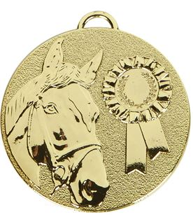 """Gold Target Horse Rosette Medal 50mm (2"""")"""
