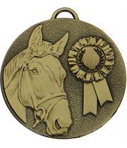 """Bronze Target Horse Rosette Medal 50mm (2"""")"""