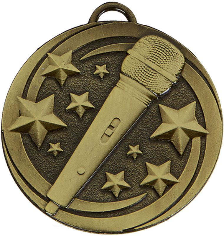 "Bronze Target Microphone Medal 50mm (2"")"