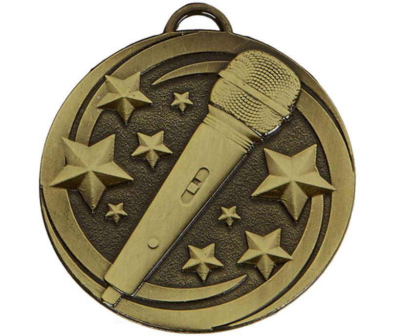 "Bronze Target Microphone Medal 50mm (2"")"
