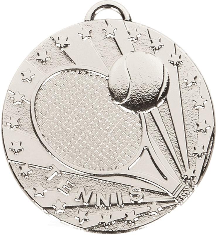 """Silver Target Tennis Medal 50mm (2"""")"""