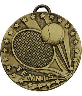 "Bronze Target Tennis Medal 50mm (2"")"