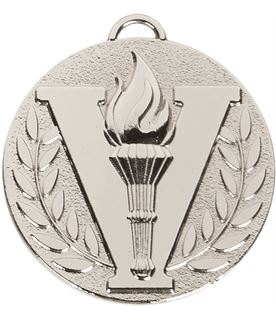 """Silver Target Victory Medal 50mm (2"""")"""