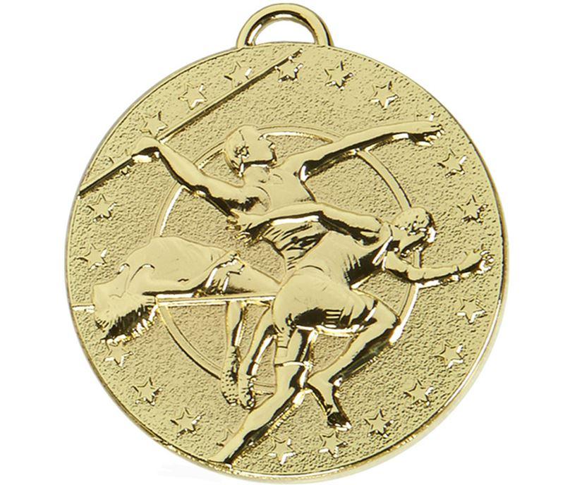 "Gold Target Track & Field Medal 50mm (2"")"