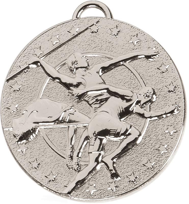 """Silver Target Track & Field Medal 50mm (2"""")"""
