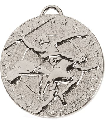 "Silver Target Track & Field Medal 50mm (2"")"
