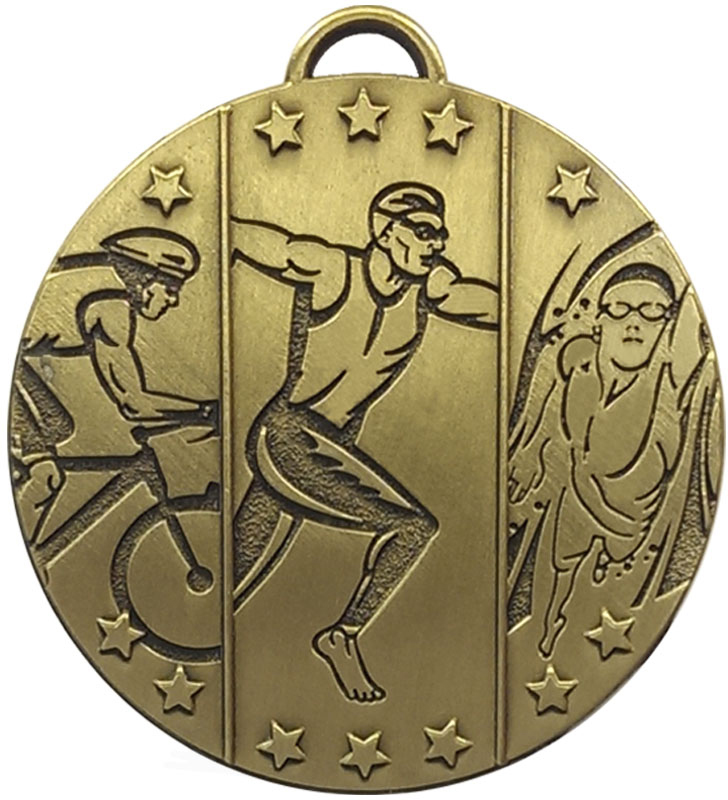 "Bronze Target Triathlon Medal 50mm (2"")"