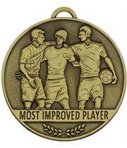 """Team Spirit Most Improved Player Medal 60mm (2.25"""")"""