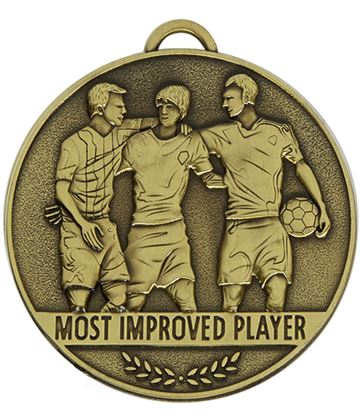 "Team Spirit Most Improved Player Medal 60mm (2.25"")"