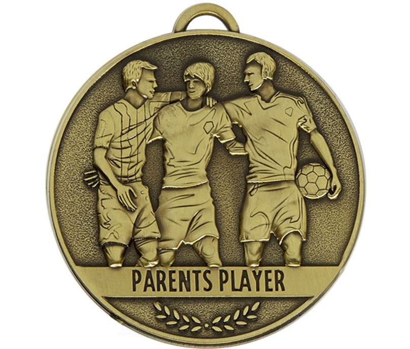 "Team Spirit Parents Player Medal 60mm (2.25"")"