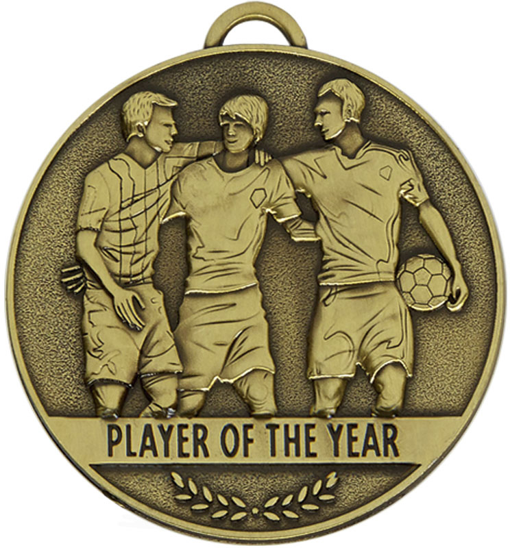 """Team Spirit Player of the Year Medal 60mm (2.25"""")"""