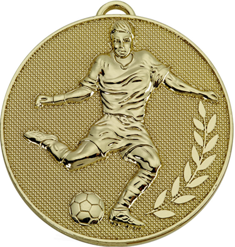 "Gold Champion Football Medal 60mm (2.25"")"