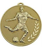 "Gold Champion Football Medal 60mm (2.25"")"