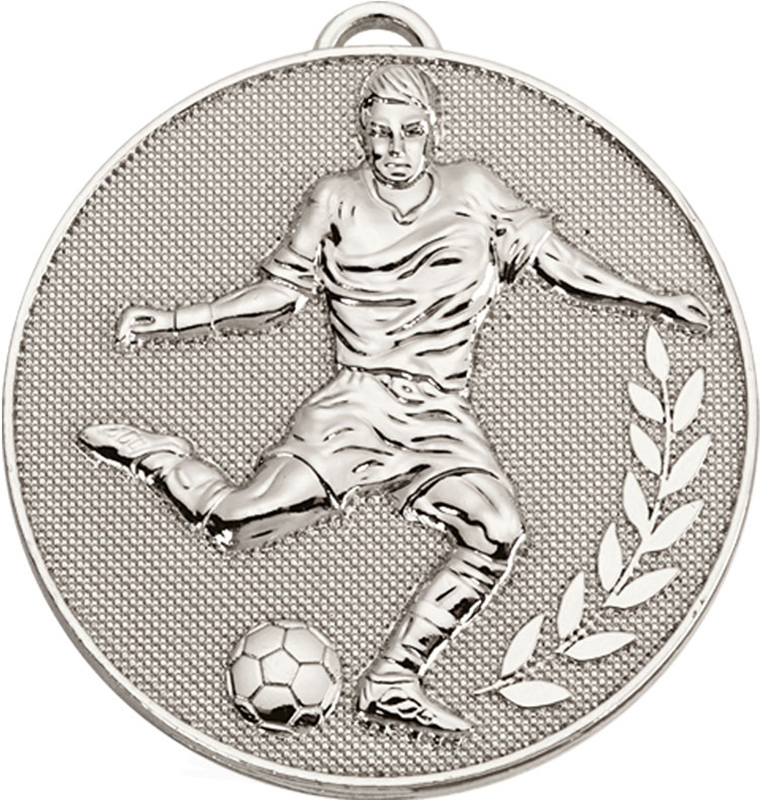 "Silver Champion Football Medal 60mm (2.25"")"