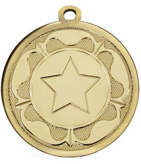 "Gold Galaxy Tudor Rose Medal 45mm (1.75"")"