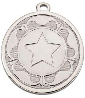 """Silver Galaxy Tudor Rose Medal 45mm (1.75"""")"""